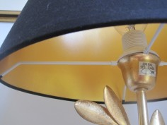Gold lined lampshade