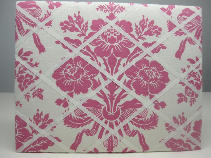 Pink & ivory notice board