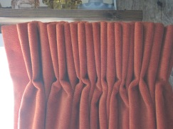 French double pleat on track