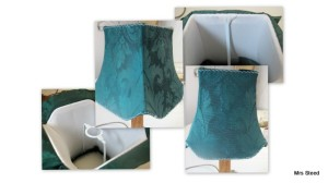 Green silk lampshade